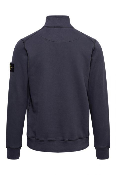 Stone Island Trui 61920 Sweater Polokraag 100% Katoen Donkerblauw