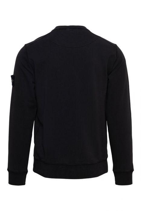 Stone Island Sweater 63051 Cotton 100% Katoen Zwart