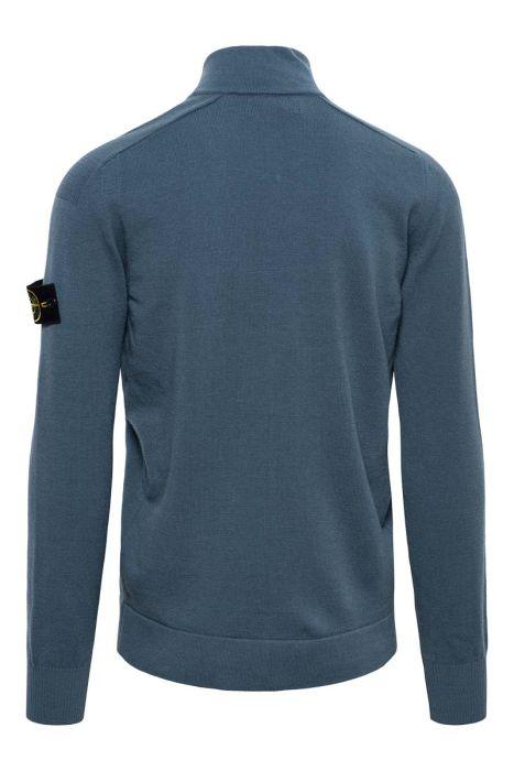 Stone Island Vest 519A1 88% Merino Wool 12% Polyamide Staalblauw