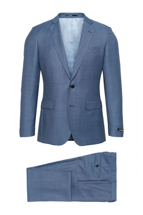 Studio Milano Kostuum 100% Wol S100 Blue Bird