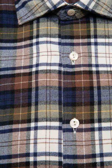 Tintoria Mattei Overhemd 100% Katoen Ruit
