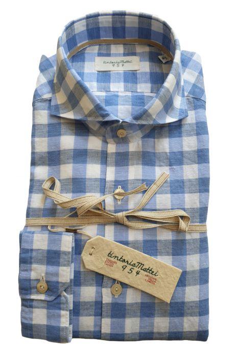 Tintoria Mattei Shirt 55%Linnen 45%katoen