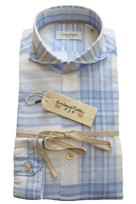 Tintoria Mattei Shirt 98% katoen 2% Stretch