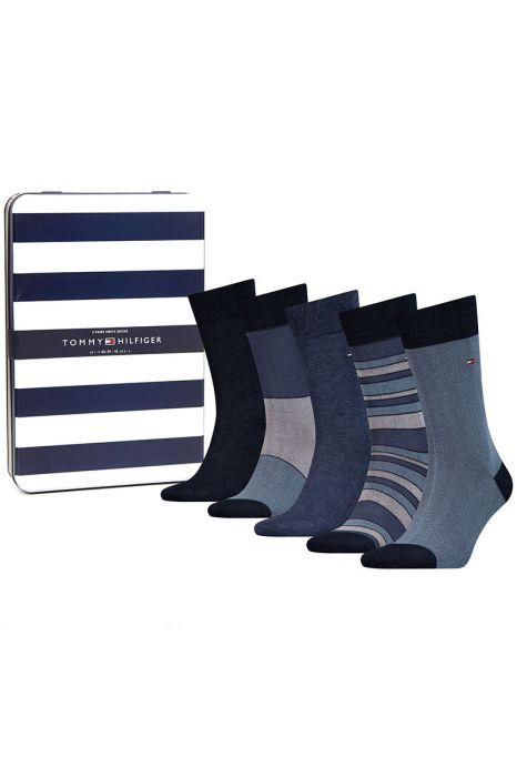 Tommy Hilfiger 5 P Socks Gift Box Navy Brirdeye