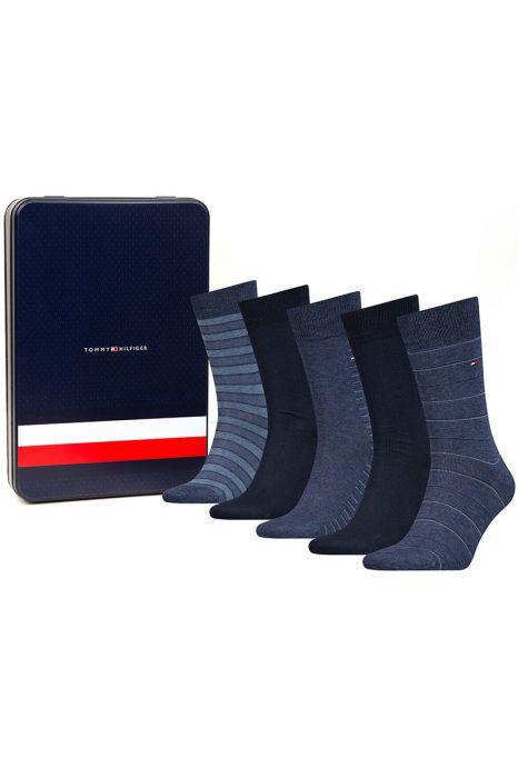 Tommy Hilfiger 5 P Socks Gift Box Navy Stripe