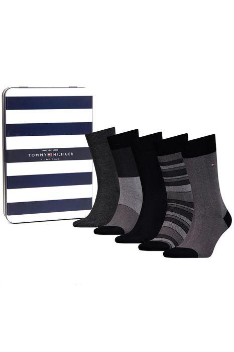 Tommy Hilfiger 5 Pair Socks Gift Box Black Birdeye