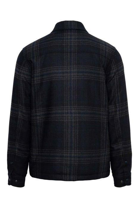 Woolrich Alasken Wool Overshirt Dons Gevoerd zwart geblokt
