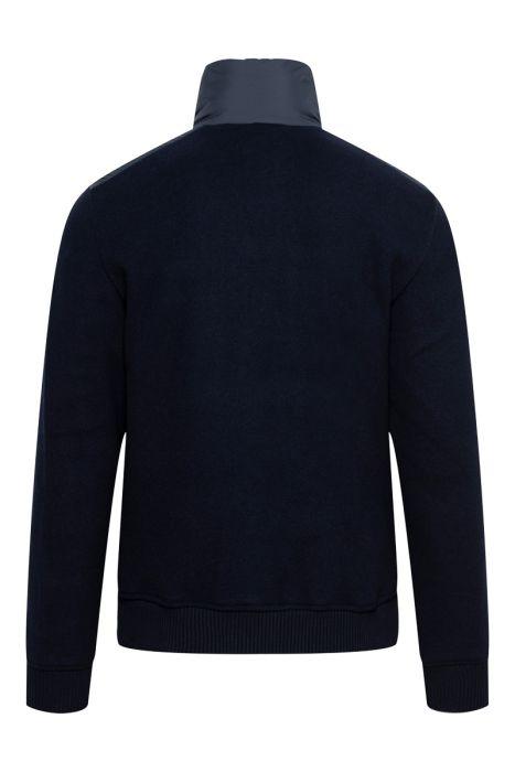 Woolrich Bonded Full Zip Dons Gevoerd donkerblauw