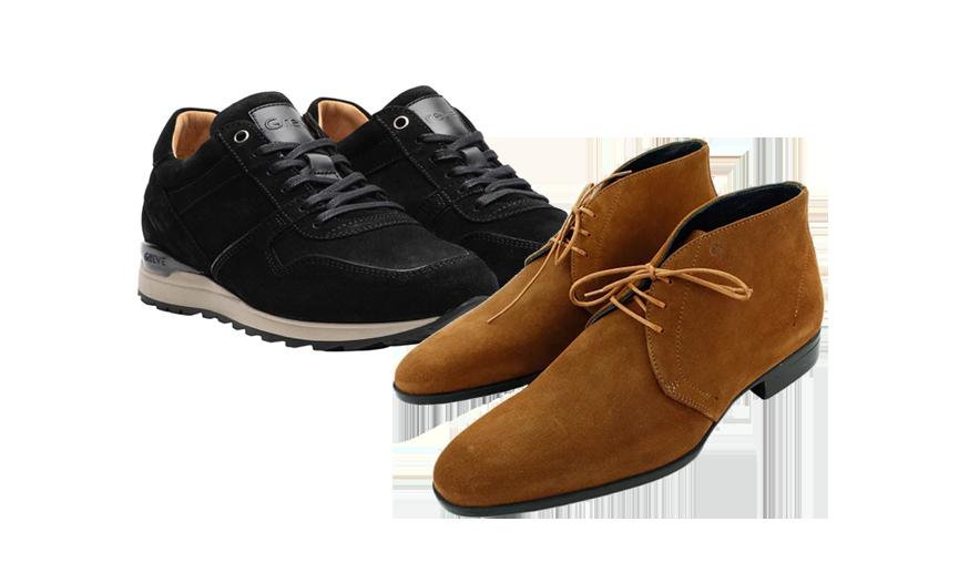 Traditionele en moderne Greve schoenen   Being There herenkleding